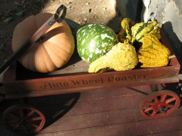 Fall Harvest Wagon on the porch
