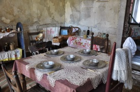 Kitchen table in the main house