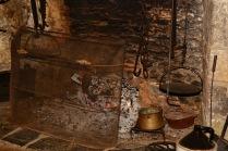 main house kitchen fireplace