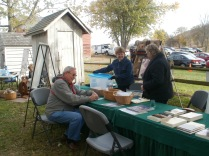 Registering at the Harmony Township Historical Society table
