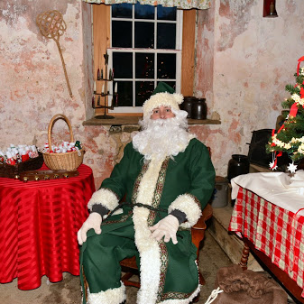 Father Christmas in Summer Kitchen