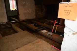 Beams in House under Floor
