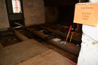 Beams in House under Floor