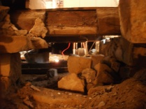 Crawlspace View in Basement