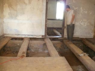 Big Beams under Floor in Farmhouse Addition