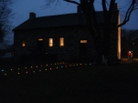 The pathway is lit and the house looks Great!