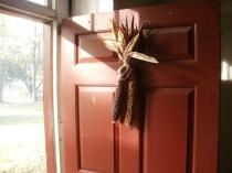 Indian Corn on the Living Room door
