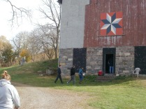 The front of the barn