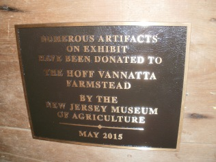 Plaque from the New Jersey Museum of Agriculture