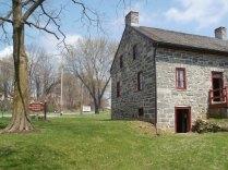 gable end of farmhouse
