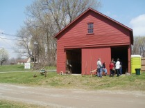 demonstrators in wagonhouse A